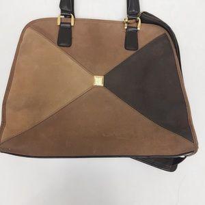 DVF Messenger Brown Suede Bag